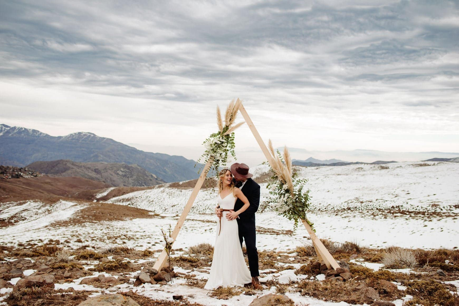 Elopement wedding Chile Los Andes Mountaing